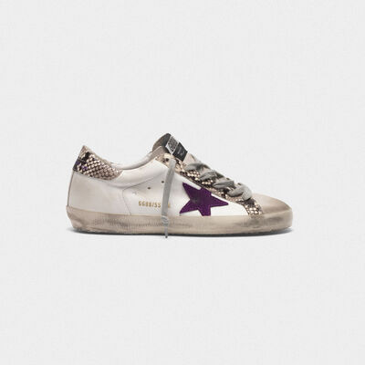 Superstar sneakers with snakeskin print inserts