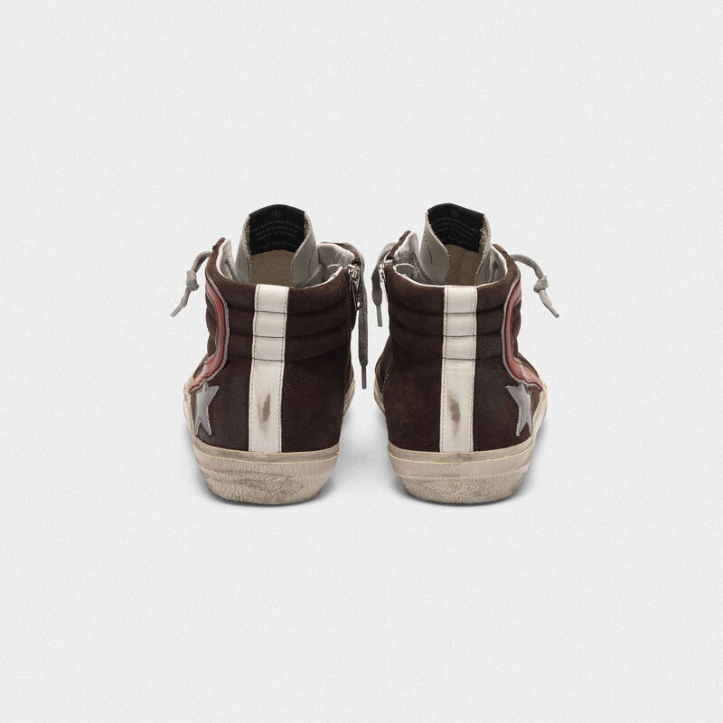 Golden Goose - Sneakers Slide in suede con stella argentata in  image number null