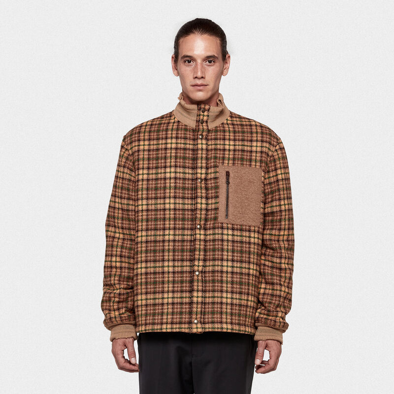 Golden Goose - Haru bomber jacket in tweed with patch pocket in  image number null