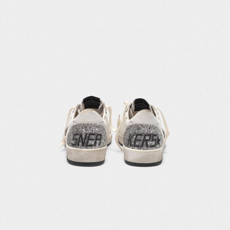 Golden Goose - Sneakers Ball Star con stella viola metallizzata e retro con glitter in  image number null