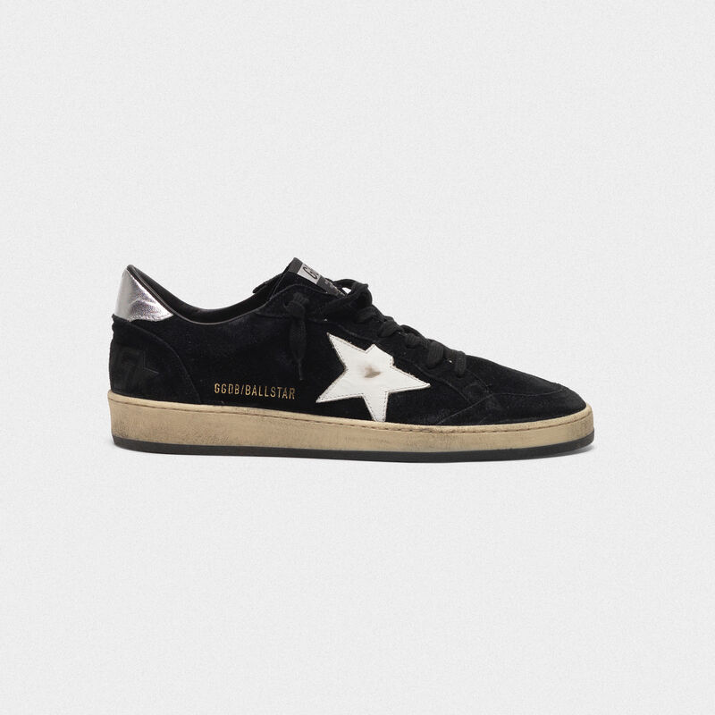 Golden Goose - Sneakers Ball Star in suede con stella a contrasto e talloncino metal in  image number null
