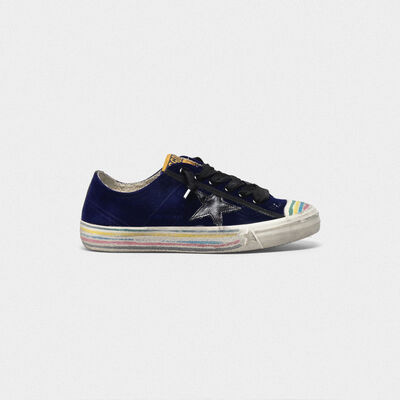 V-Star sneakers in velvet with leather star