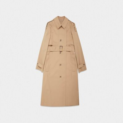Serenity trench coat with trekking-style drawstring