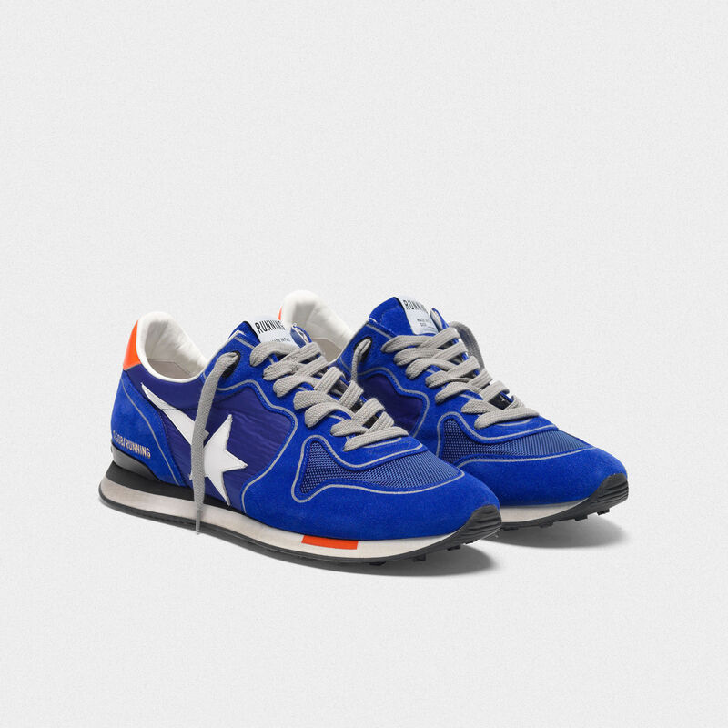 Golden Goose - Electric blue Running sneakers with white star in  image number null