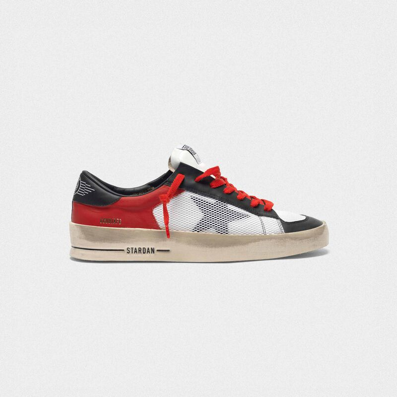 Golden Goose - Stardan sneakers in leather with mesh inserts in  image number null