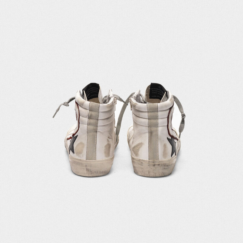 Golden Goose - Sneakers Slide bianche con stella nera   in  image number null
