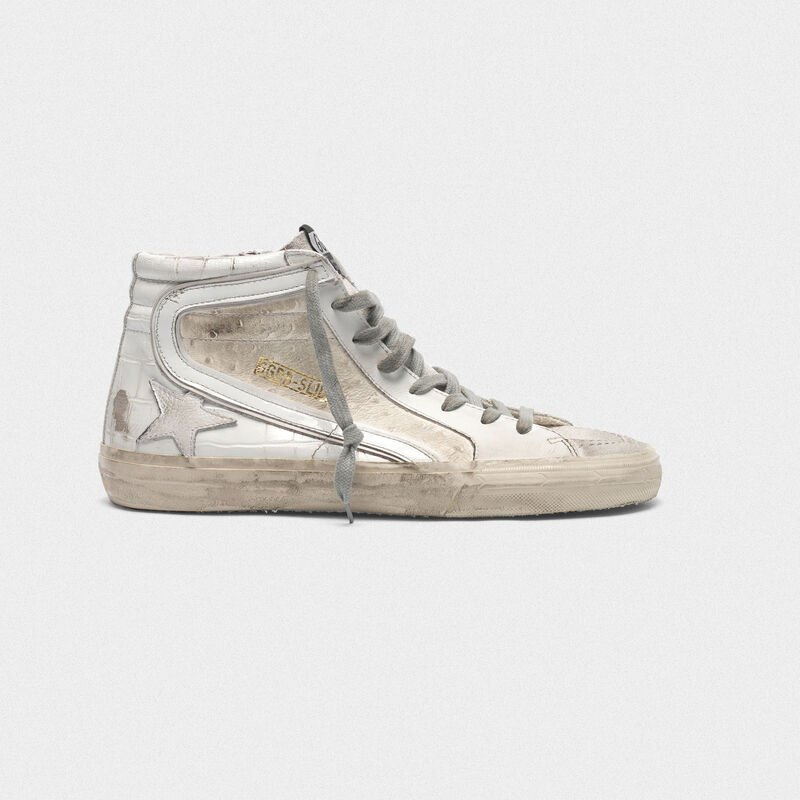 Golden Goose - Sneakers Slide bianche patchwork shades in  image number null