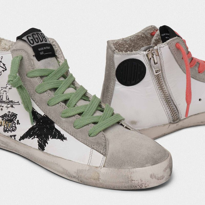 Golden Goose - Sneakers Francy con stampa tattoo in  image number null