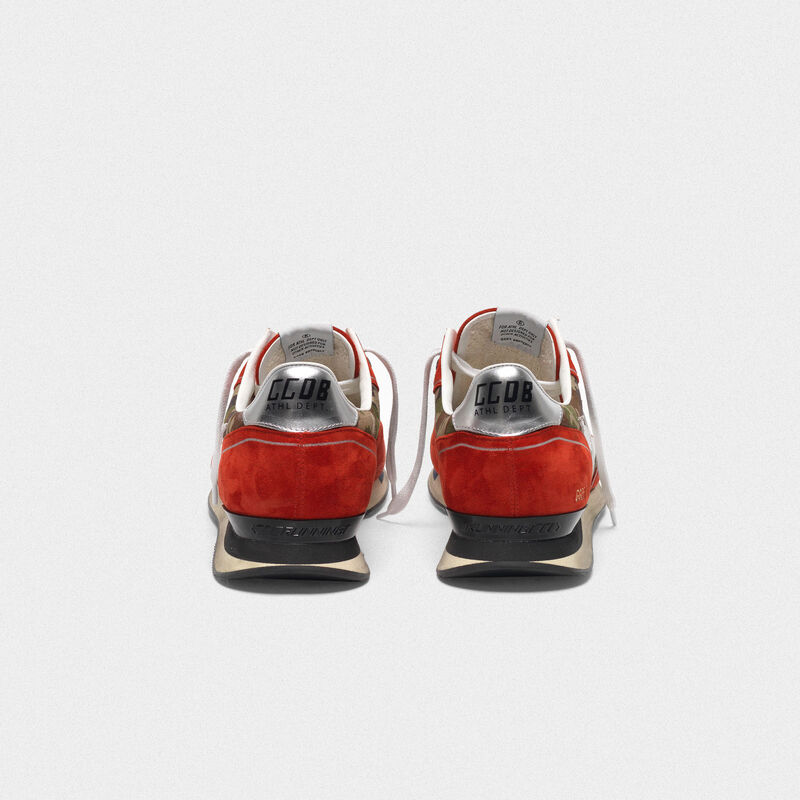Golden Goose - Sneakers Running rosse in suede e motivo camouflage in  image number null