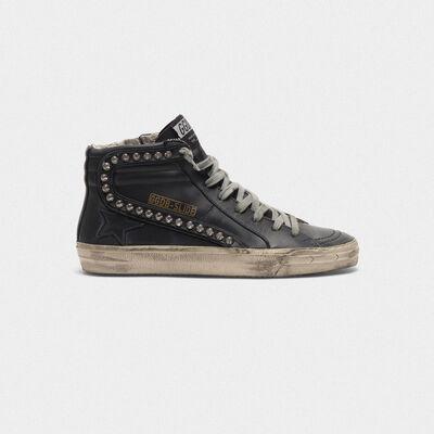 Sneakers Slide con borchie applicate
