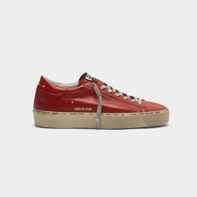 Hi Star sneakers in leather with perforated star