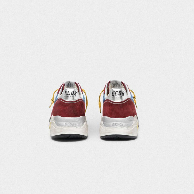 Golden Goose - Sneakers Running Sole bordeaux e blu in  image number null