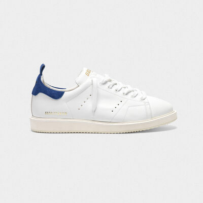 Starter sneakers in leather with suede heel tab