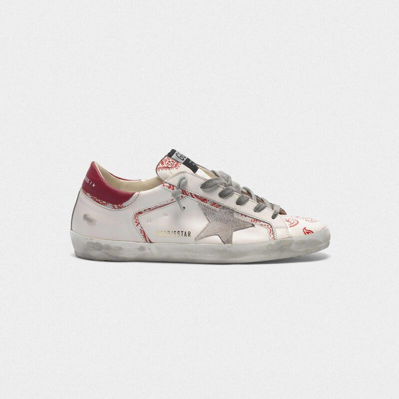 Golden Goose - Superstar sneakers with bandana print in  image number null