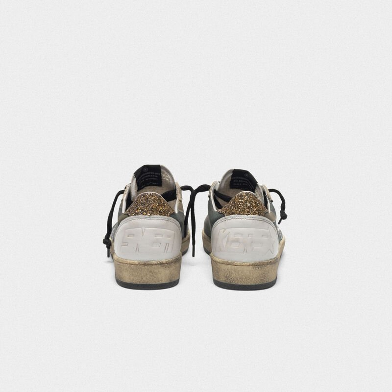 Golden Goose - Sneakers Ball Star camouflage con stella e talloncino glitter in  image number null