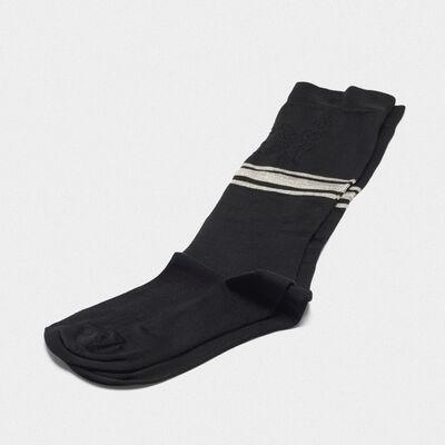 Black Addison socks with jacquard pattern
