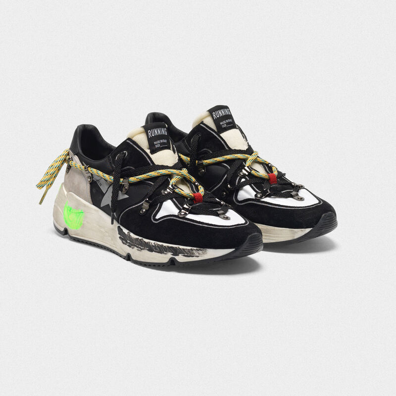 Golden Goose - Running Sole sneakers in suede with double laces in  image number null