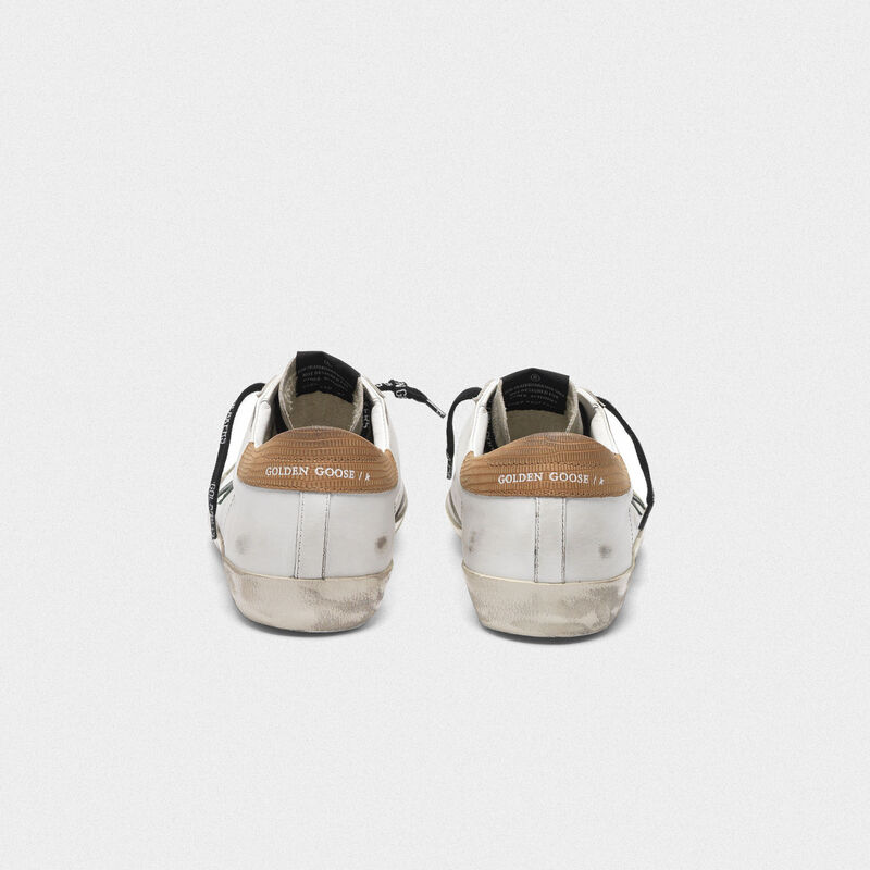 Golden Goose - Sneakers Superstar bianche con talloncino stampa lucertolina in  image number null