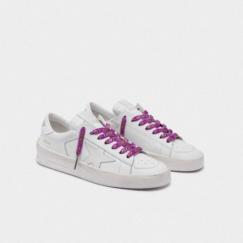 Golden Goose - Women's purple velvet laces with gold laces print in  image number null