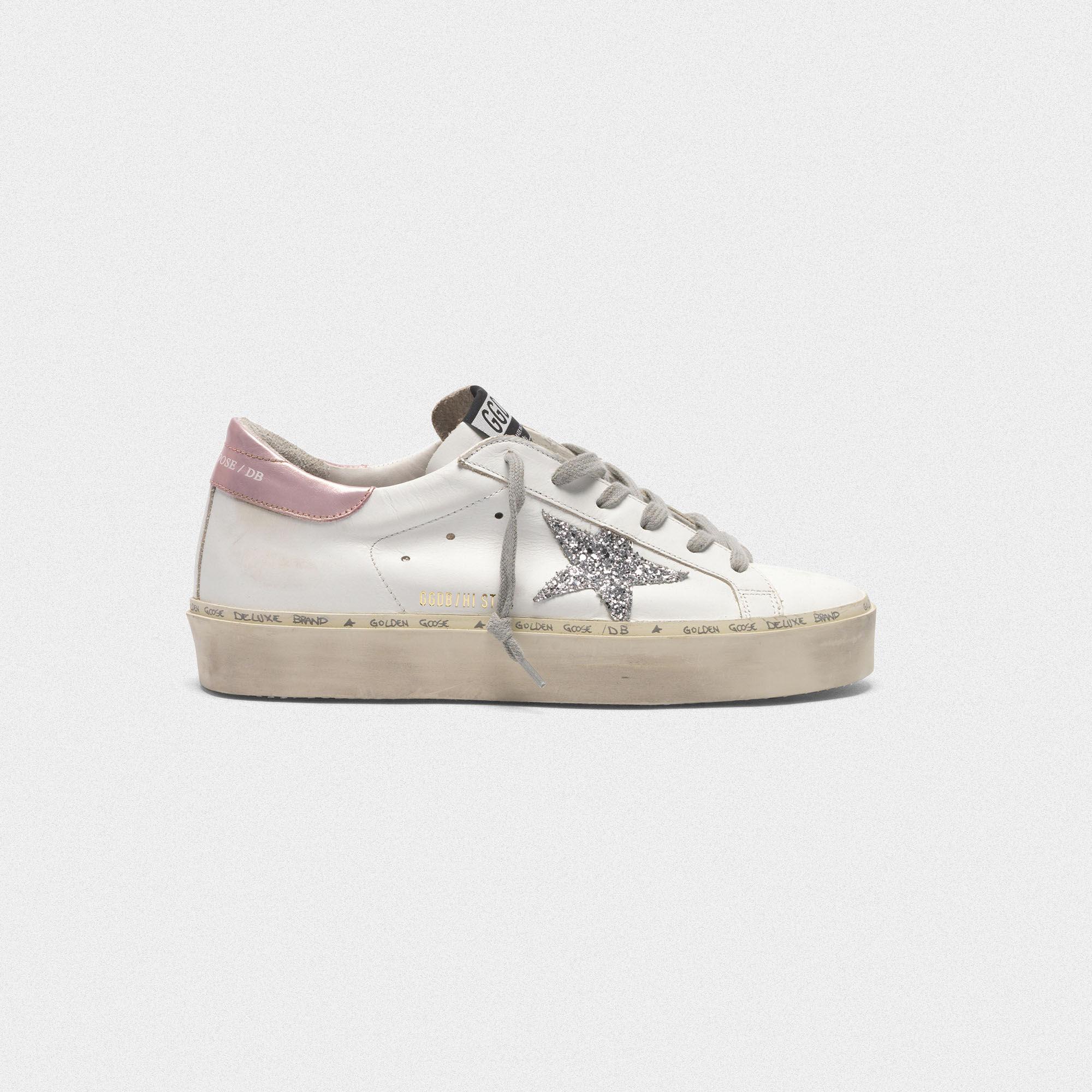 Golden Goose Hi Star Glitter Platform Sneaker in 2019