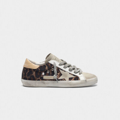 Leopard-print Superstar sneakers with suede star