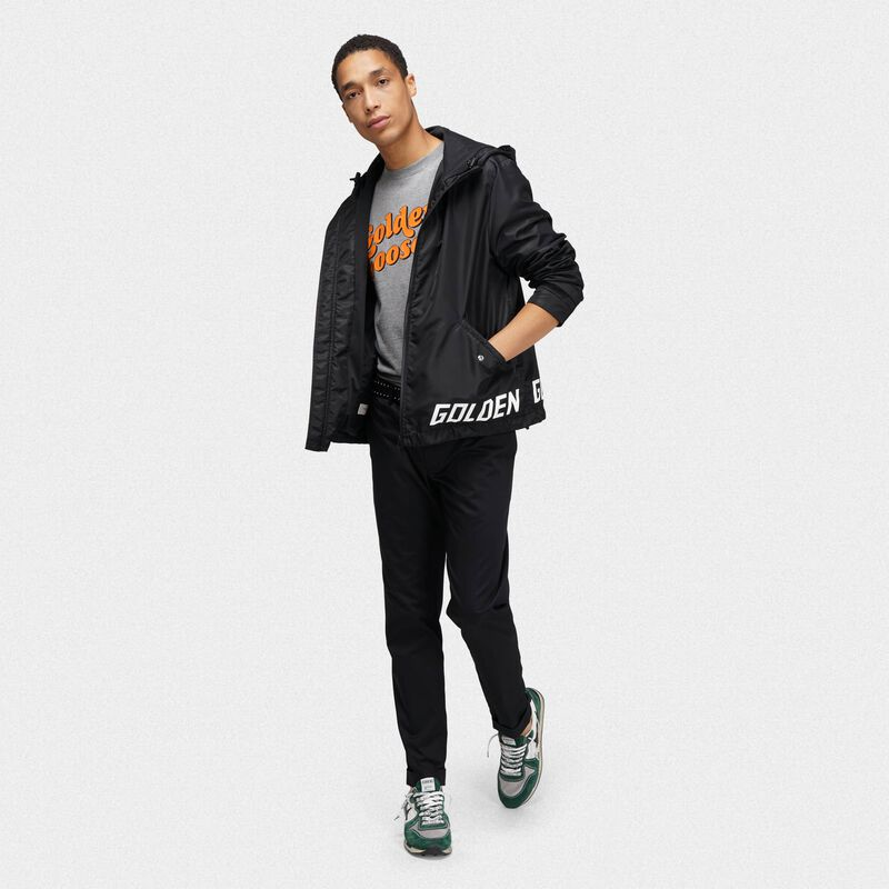 Golden Goose - Black Jacob windcheater with logo   in  image number null