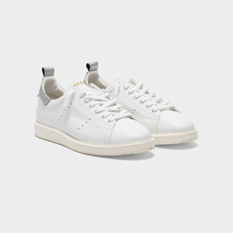 Golden Goose - Starter sneakers in leather with metallic heel tab in  image number null