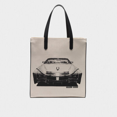 Cadillac print North-South California Bag