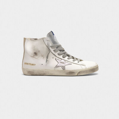 Francy sneakers in leather with suede star