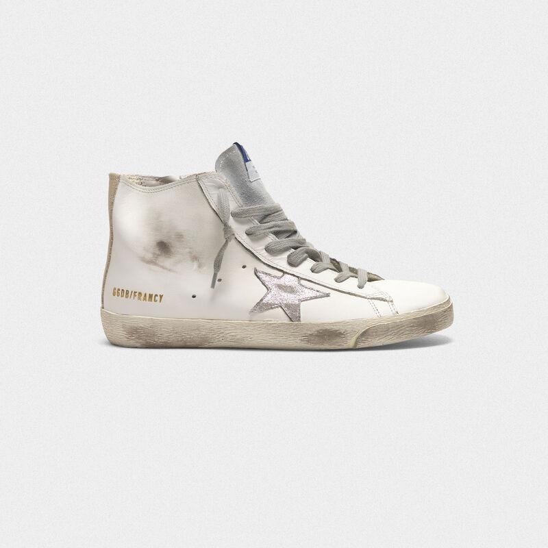 in vendita 96c4e c3fa3 Sneakers Francy in pelle con stella camoscio