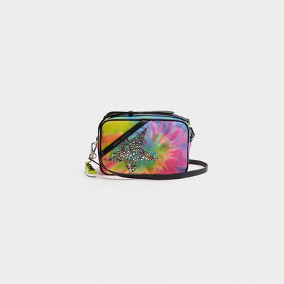 Borsa Star Bag tie-dye stella con cristalli