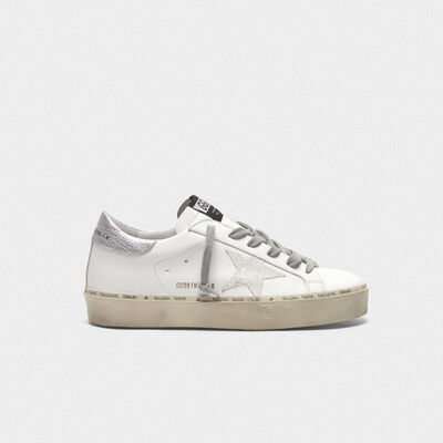 Sneakers Hi Star con stella iridescente e talloncino argentato