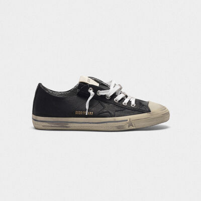 V-Star sneakers in leather with tonal star