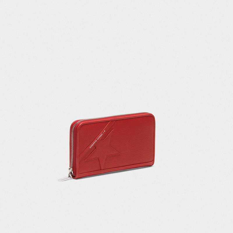 Golden Goose - Large red Star Wallet   in  image number null