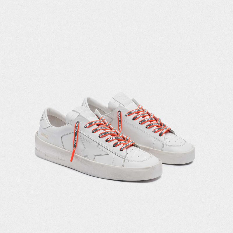 Golden Goose - Men's neon orange reflective laces with laces print in  image number null