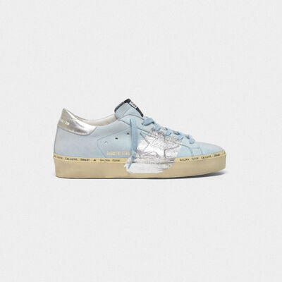 Sneakers Hi Star in nabuk e fascia in foglia di argento
