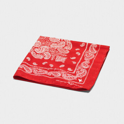Cotton Jiro bandana with paisley pattern