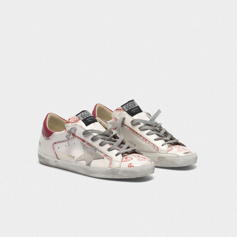 Golden Goose - Sneakers Superstar con stampa bandana in  image number null