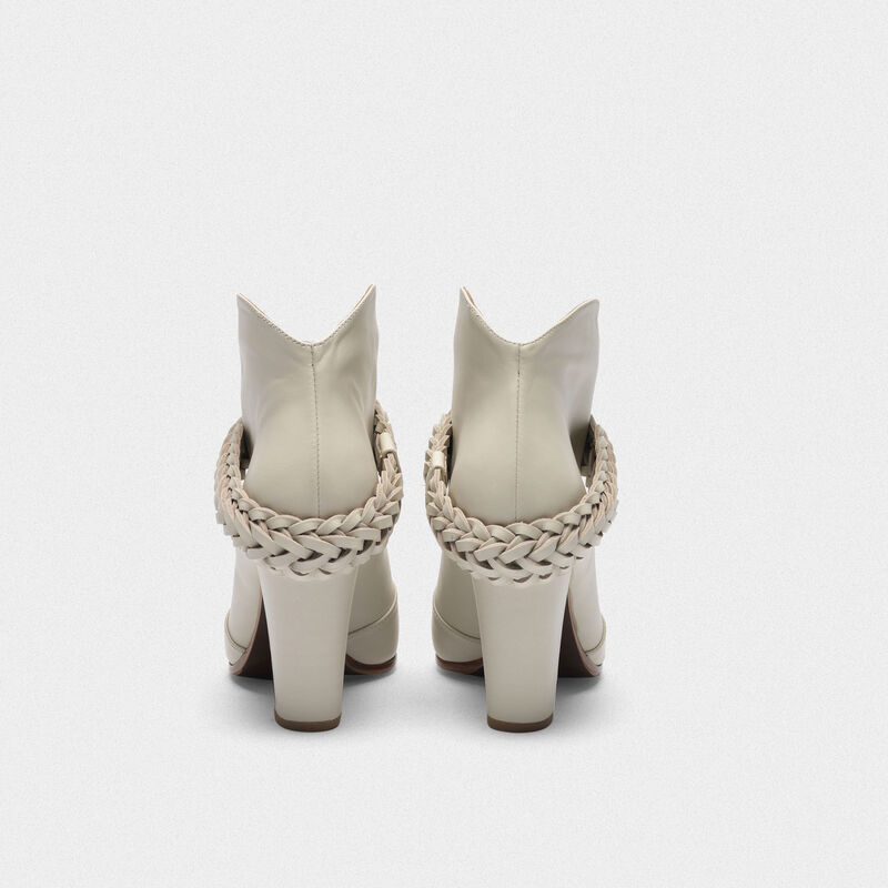 Golden Goose - Low white Michelle ankle boots in  image number null