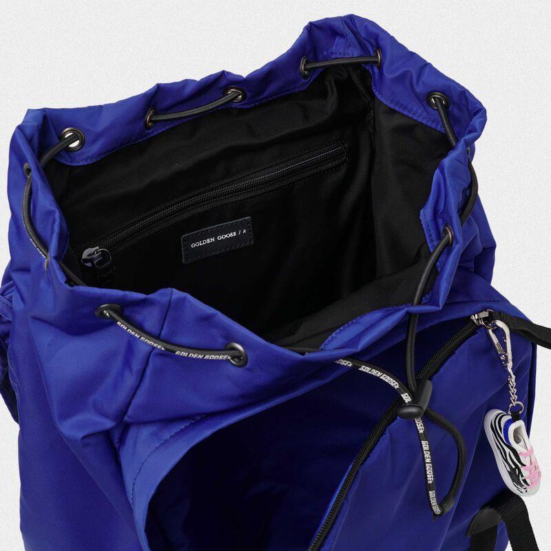 Golden Goose - Royal blue nylon Journey backpack in  image number null