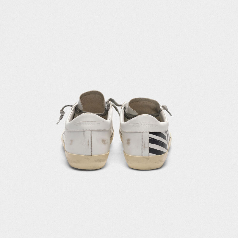 Golden Goose - Superstar sneakers in leather with flag screen print in  image number null