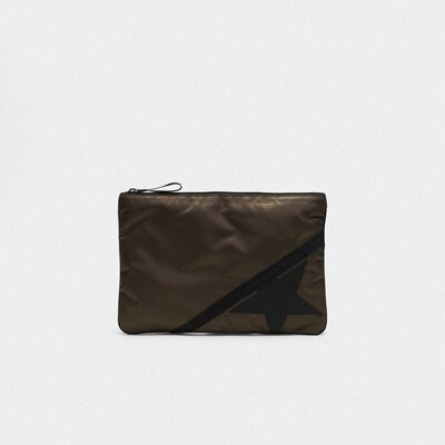 Pouch Journey large in nylon verde militare