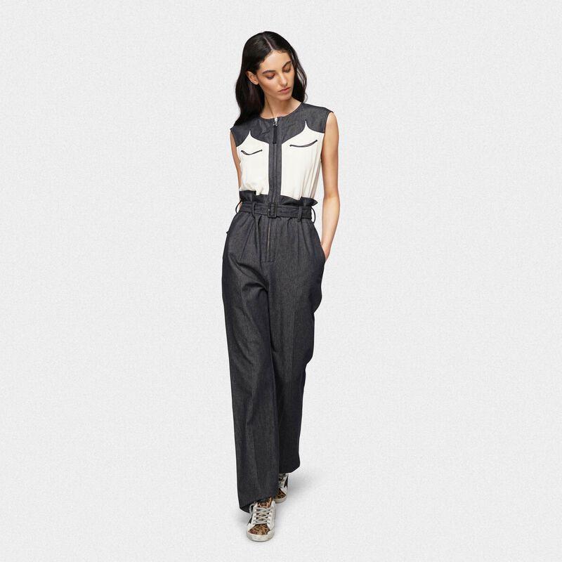 Golden Goose - Jocelyn jumpsuit in tailoring denim in  image number null