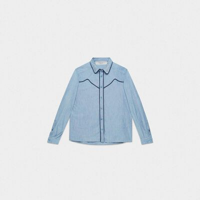 Alexa shirt in cotton denim