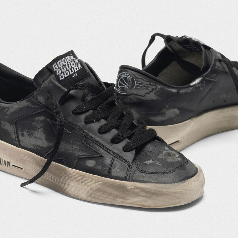 Golden Goose - Stardan LTD sneakers in total black leather  in  image number null