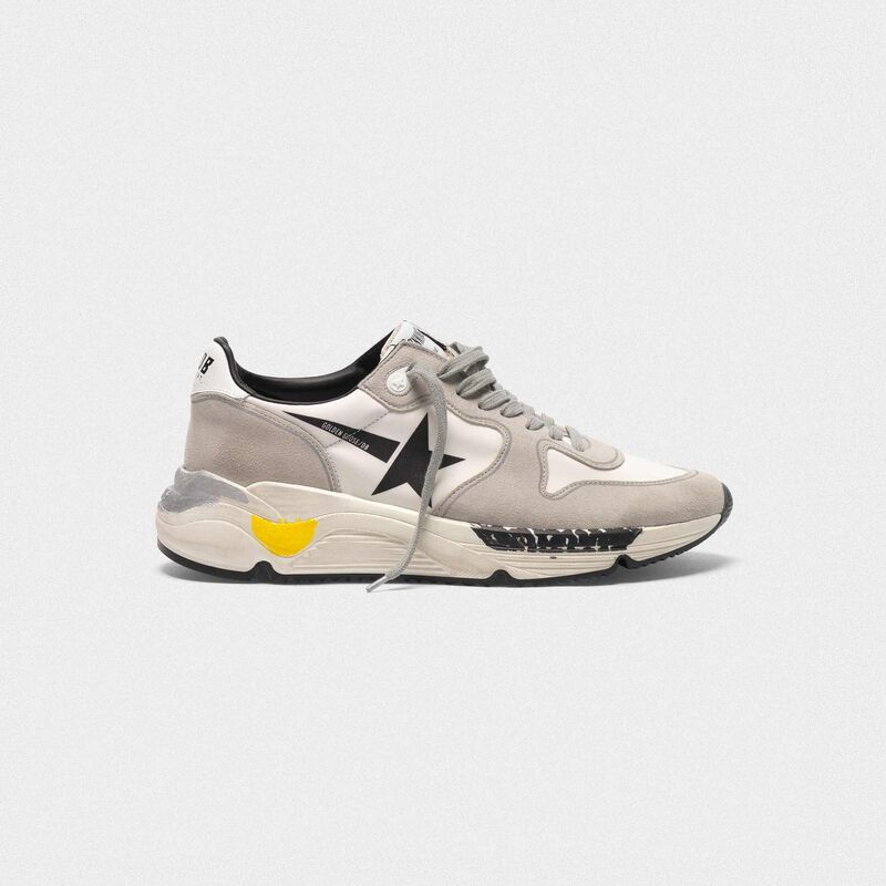 Golden Goose - Running Sole sneakers in leather and Lycra with black star in  image number null