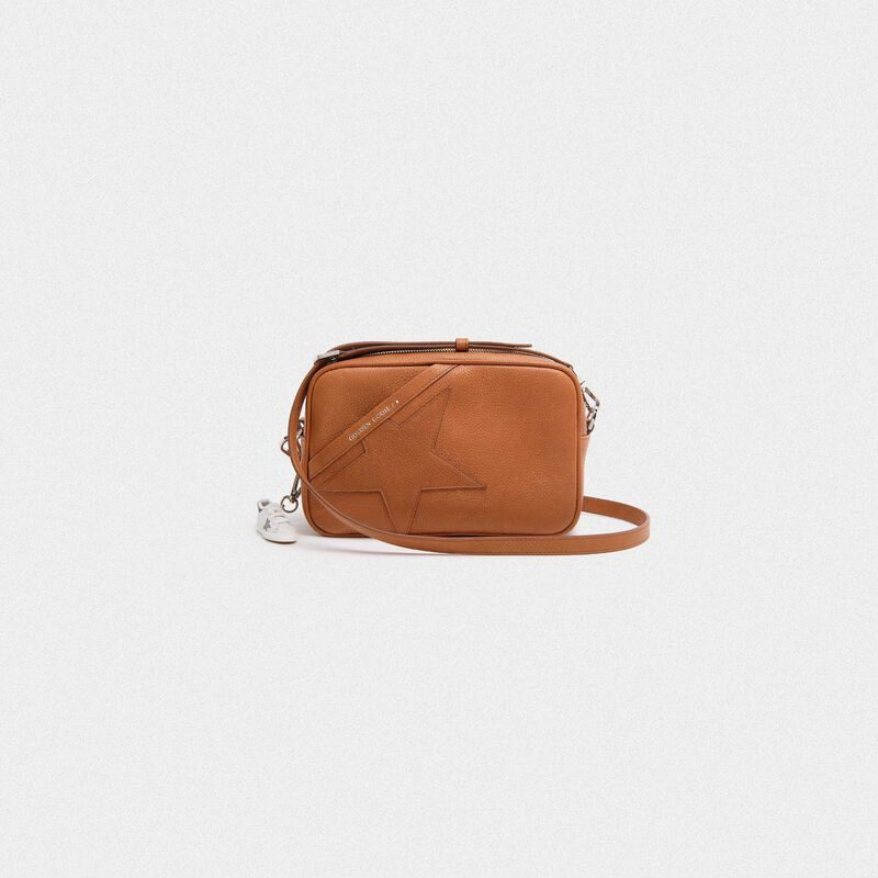 Golden Goose - Tan Star Bag made of hammered leather in  image number null