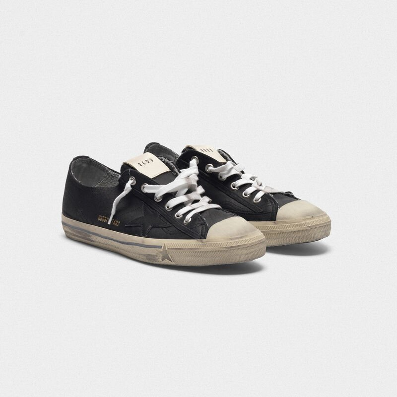 Golden Goose - V-Star sneakers in leather with tonal star in  image number null