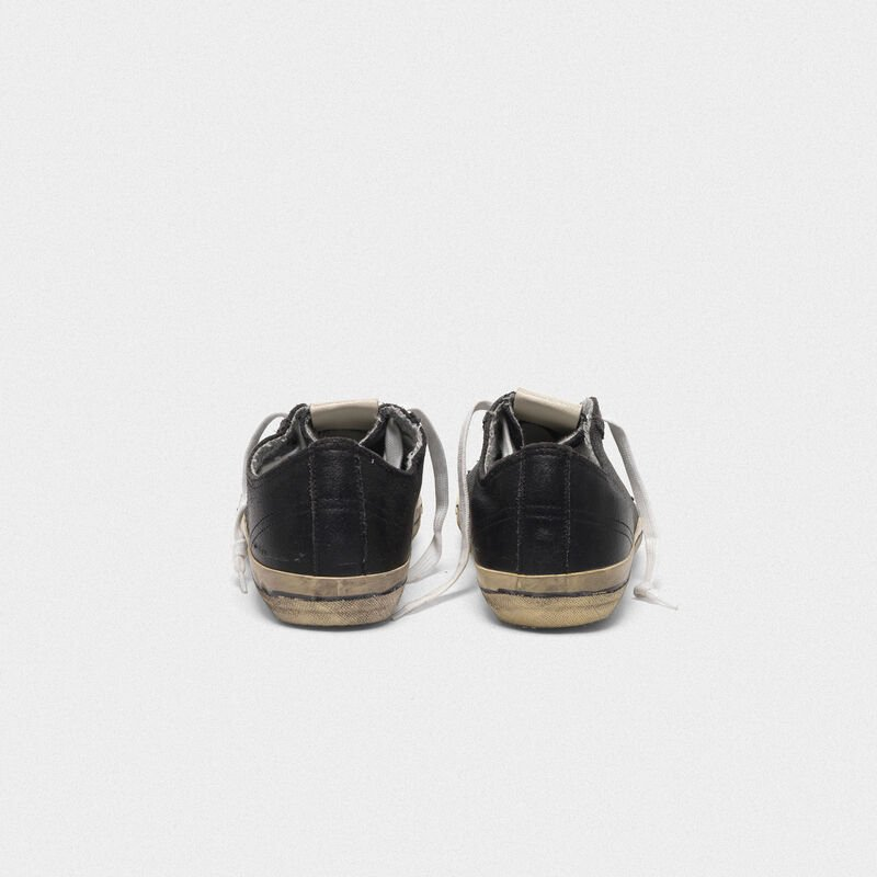 Golden Goose - V-STAR sneakers in vintage-effect leather in  image number null