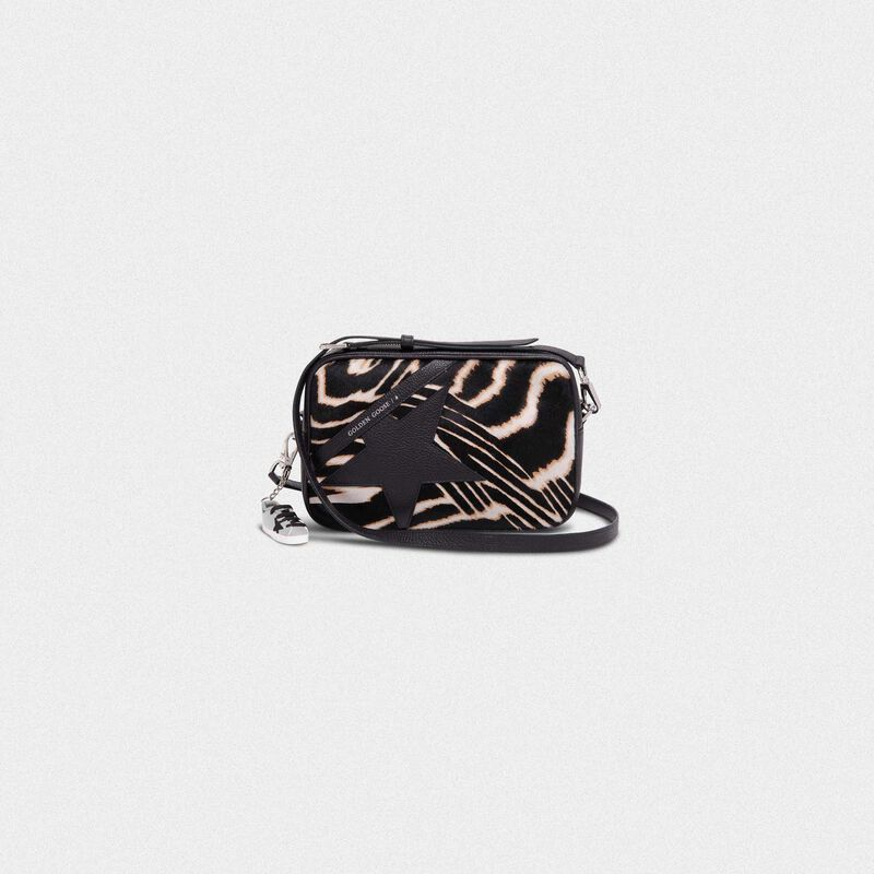 Golden Goose - Star Bag made of zebra print pony-effect leather in  image number null